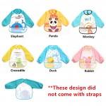 [Little B House] Waterproof anti-dressed long sleeve baby bibs -81103