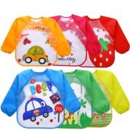 image of [Little B House] Waterproof Anti-dressed long sleeve baby bibs -BB06