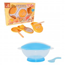 image of Japan Hito Multifunctional Baby Food Maker Set Cum Translucent Portable Baby Training Bowl Feeding Set -CDH31200+BKM15