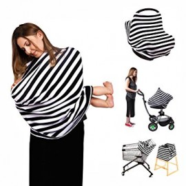 image of [Little B House] 5 in 1 Baby Car Seat Cover and Nursing Breastfeeding Cover -BF02