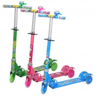 image of [Little B House] Height Adjustable Foldable Wheel Balance Kick Scooter for Kids - OD01