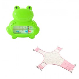 image of [Little B House] Baby Bath Thermometer Cum Baby Shower Net - BKM04+BSN