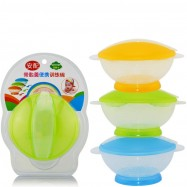 image of [Little B House] Translucent Portable Baby Training Bowl Feeding Set -BKM15