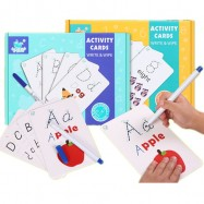 image of [Little B House] Alphabet & Number Activity Cards Write & Wipe Learning Educational Toys Paper Card - BT171