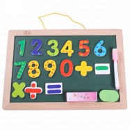 image of [Little B House] Hanging Wooden Magnets Dual Purpose Drawing Boards Kids Toy - BT142