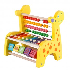 image of [Little B House] Multifunction Wooden Giraffe Xylophone Hand Knock Piano Keyboard Toys - BT149