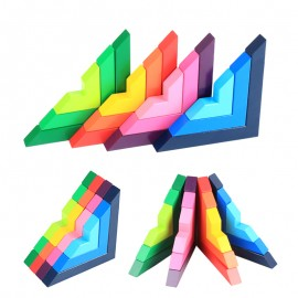 image of [Little B House] Develop Logical Thinking Wooden Right Angle Building Blocks Set - BT151