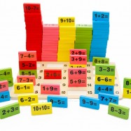 image of [Little B House] 110pcs Domino Blocks Mathematics Of Domino Kids Wooden Toys Addition And Subtraction - BT158