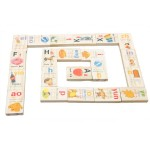 [Little B House] Wooden 90pcs Learning Chinese Pinyin Dominoes Building Blocks Toys - BT167