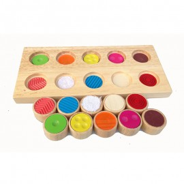 image of [Little B House] Memory Touch Flap Children Puzzle Rubber Wood Toys Baby Knowledge Color Educational Toy - BT168