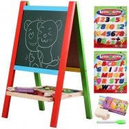 image of [Little B House] Wooden 2 in 1 Foldable Double Sided Magnetic Writing Drawing Board - BT117