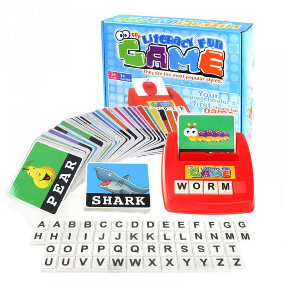[Little B House] Literacy Fun Game Alphabet Letters Figure Spelling Games Educational Toys - BT177