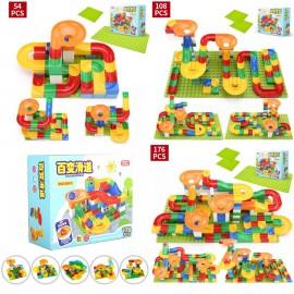 image of [Little B House] DIY Changeable Assemble Bricks Slide Blocks Set Spell Puzzle - BT150 + 1Board