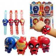 image of [Little B House] Cartoon Transform Iron Man Spiderman Captain America Digital Children's Watch - BT182