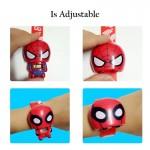 [Little B House] Cartoon Transform Iron Man Spiderman Captain America Digital Children's Watch - BT182