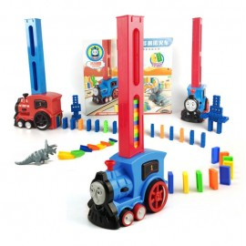 image of [Little B House]128pcs Automatic Block Laying Domino BuildingBlocks Train- BT183