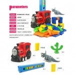[Little B House]128pcs Automatic Block Laying Domino BuildingBlocks Train- BT183