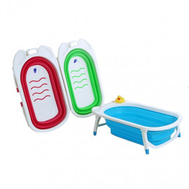 image of [Little B House] New Design Foldable Baby Bathtub Folding Baby Bath Tub - BA04