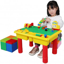image of Creative Large Size Multi-Function Foldable Table with 68pcs Big Blocks -BT179