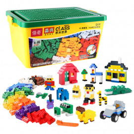 image of [Little B House] DIY Creative 500/1000 PCS Building Blocks Bricks Set -BT180