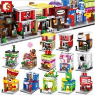 image of [Little B House] Mini Store DIY Building Bricks Micro street Shop Educational Kids Toys - BT186