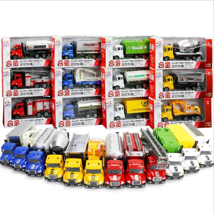 image of [Little B House] 1:64 Alloy Metal Toys Car Construction Trucks Toy Diecast Vehicle - BT192