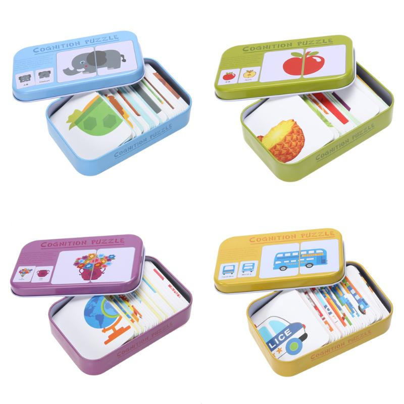 image of [Little B House] Baby Learning Cards Fun English Word Pocket Flash Card - BT197