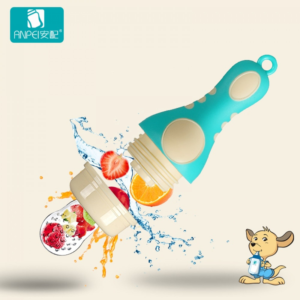 [Little B House]Anpei Baby Food Bite Bags Fruits Grinding Pacifier Teether -TW08