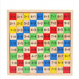 image of [Little B House] 99 Multiplication Table Montessori Maths Toys Wooden Learning Education Toys - BT207