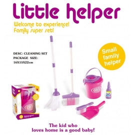 image of [Little B House] Simulation Mini Cleaning Tool Play House Broom Mopping Bucket Toy Set - BT208