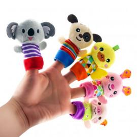 image of [Little B House] Happy Monkey Animals Finger Puppets Story Telling (5 pcs) -BT42