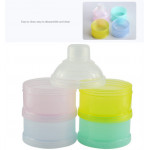 [Little B House] Portable Baby Feeding Milk Powder & Food Bottle Container 4 Cells Grid Box -BKM19
