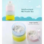 [Little B House] Portable Baby Feeding Milk Powder & Food Bottle Container 3 Cells Grid Box -BKM20