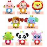 [Little B House]Happy Monkey Round Rattles Teether Soft Infant Toy -BT44