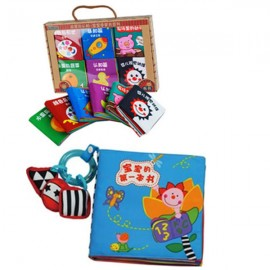 image of 6 Mini Cloth Books Cum Cloth Book - Baby's First Book 0-3 years old -BKM02+BKM06