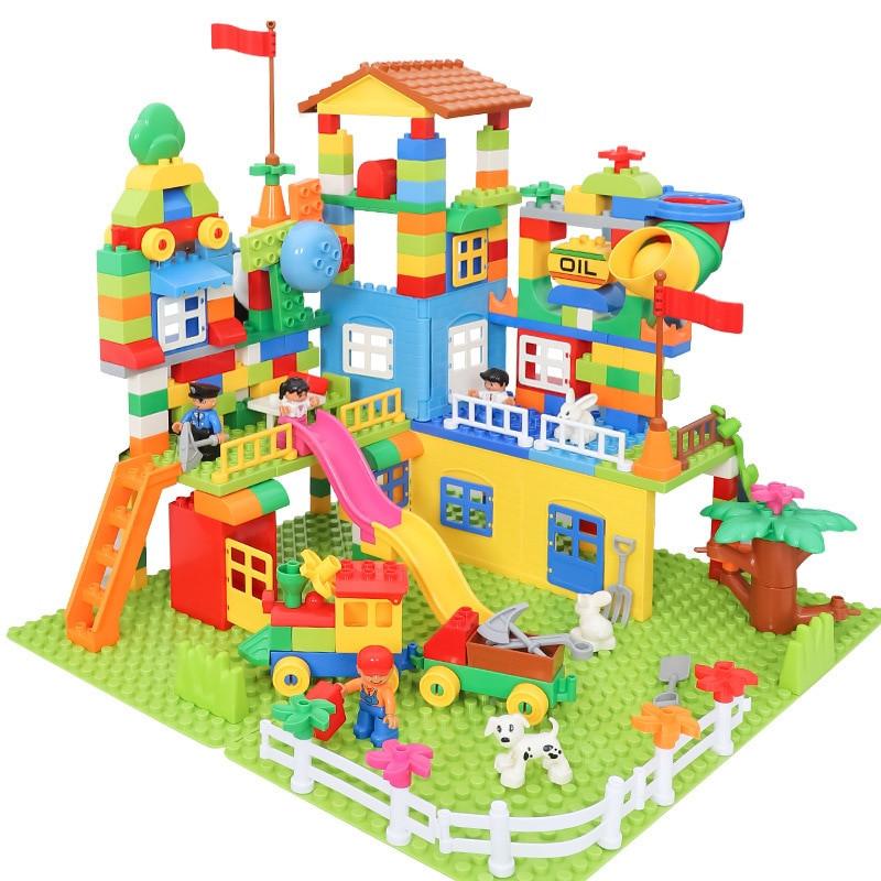 image of [Little B House] 238Pcs Big Size Building Blocks Amusement Park Model Toy- BT191 + 2 Board