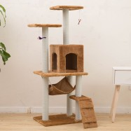 image of READY STOCK - 125CM Luxury Superior Cat Scratcher House Condo Tree