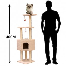 image of READY STOCK - 140CM Large Luxury Cat Tree Condo Scratcher House (Code: 10B)