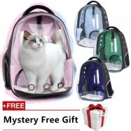 image of READY STOCK - Japanese Transparent Cover Full Screen Astronaut Capsule Pet Bag