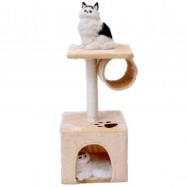 image of D6 Cat Tree Condo Scratcher House 30x30x60CM