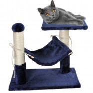 image of D9 Cat Tree Condo Scratcher House With Hammock Mat 45x30x45CM