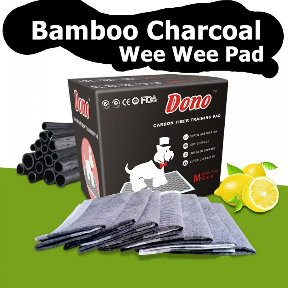 READY STOCK - Premium Bamboo Charcoal Wee Wee Pad with lemon scent