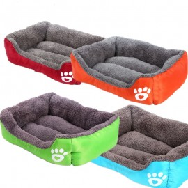 image of READY STOCK -  Large Cute Paw Soft And Comfy Pet Bed 68x55x18CM
