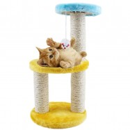 image of READY STOCK - Kitten Cat Colorful Tree Toy Scratcher Plat Bed (Color Random)