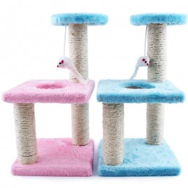 image of Kitten Cat Tree Toy Scratcher Plat Bed (Color Random)