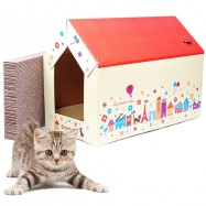 image of READY STOCK - I LOVE PET Kitten Scratcher Bed House