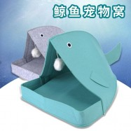 image of READY STOCK - Cat Comfy Pet House Whale Bed