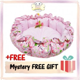 image of READY STOCK - Premium Comfy and Soft Pumpkin Bed 55x50x17CM (Pink)