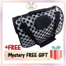 image of READY STOCK - Oxford Fordable High Quality Pet Bag (Black Square)