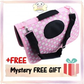 image of READY STOCK - Oxford Fordable High Quality Pet Bag (Pink Square)
